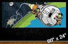 """HUGE 60""""x24"""" KERBAL SPACE PROGRAM *new* collectible poster wall art gamer toon"""
