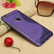 "HOUSSE ETUI COQUE SILICONE GEL VIOLET APPLE IPHONE 6 / 6S (4.7"")"
