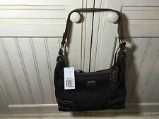 The Sak Sig Knit Boho Hobo Shoulder Bag Purse Brown/Coffee NWT Style 102793