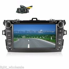 Fit for Toyota Corolla 8''HD Double 2Din BT Multimedia Radio Car DVD Player +Cam