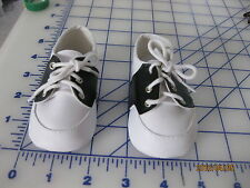 SADDLE OXFORD BLACK AND WHITE SHOES LEATHER STYLE DOLL SHOES SIZE 93 MM