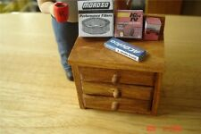 Workbench, Cabinet , Table - 3 Drawer -1/18 Diorama & Accessories