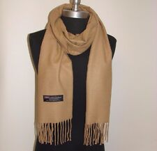 New 100% Cashmere Scarf Solid Camel Scotland Warm Wool Wrap Soft #S19