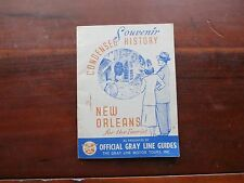 VINTAGE SOUVENIR CONDENSED HISTORY OF NEW ORLEANS TOURIST GRAY LINE GUIDES