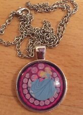 Pretty Princess Glass Cabochon Pendant Necklace Uk Seller Party Pag Filler, Gift