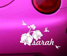 Car Orchid Flower Name Colibri Bird Sticker Vinyl Graphic