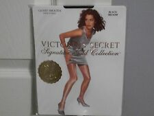 VICTORIA SECRET GLOSSY SMOOTH BLACK PANTYHOSE SIZE MEDIUM