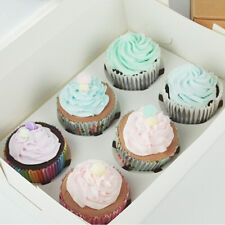 6 Bakery Cake Wedding Party Favor Muffin Cupcake Box With Window Insert Tray