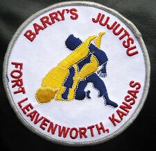 BARRYS JUJUTSU EMBROIDERED SEW ON PATCH MARTIAL ARTS FORT LEAVENWORTH, KANSAS 4""