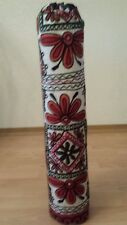 YOGA MAT BAGS NEW COTTON EMBROIDERED WHITE