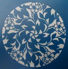 Scrapbooking - STENCILS TEMPLATES MASKS Sheet - Leaf and Flower Circle