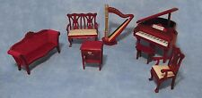 1:12 Scale 7 Piece Music Room Set Dolls House Miniature Furniture Accessory 811