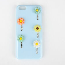 Apple iPhone 5c Mobile Phone 3D Blue & Multi Colour Daisy Crystal Case/ Cover