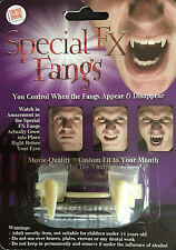 SPECIAL FX FANGS Retractable Vampire Teeth Halloween FANCY DRESS ZOMBIE HORROR