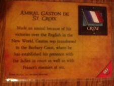 Pirates of the Barbary Coast #084 Amiral Gaston de St. Croix Pocketmodel NM-MINT