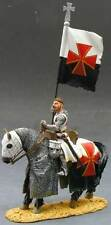 KING & COUNTRY MEDIEVAL KNIGHTS MK008 MOUNTED KNIGHT WITH FLAG MIB