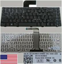 Clavier Qwerty US DELL Inspiron 14R, XPS L502 Vostro 3550 0X38K3 NSK-DX0SW NOLID