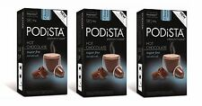 Nespresso-Compatible Podista Hot Chocolate Pods – Sugar Free - 30 Pods (3 boxes)