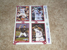 Omaha Storm Chasers: 2014 Player Collector Cards (1 Set of 4)