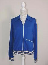 "Vintage Speedo Jacket Warm Up Blue Full Zipper Track Retro Japan Mens 44"" Chest"