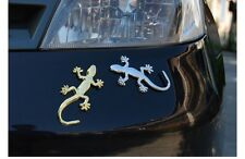 3D Chrome Silver Metal Lizard Decal for Car Truck Custom Sticker