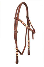 Western Natural Futurity Style Rawhide Braided Head Stall
