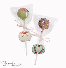 Cake Pop Kit-Palos, Wrappers, Etiquetas/cinta De-Regalo De Navidad/Media Relleno/Favores