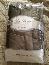 NEW Nordstrom at Home Standard Sham, 'Couette' Tuck Satin, Mink, NIP $58