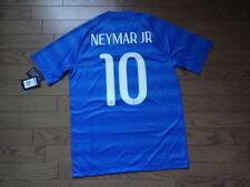 Brazil #10 Neymar 100% Original Soccer Jersey Shirt M BNWT NEW 2014 Away