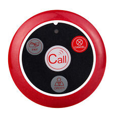 Ultra-thin Wireless Calling Bell Pager Call Button Transmitter for Calling Sys