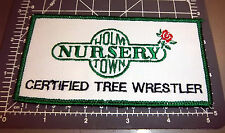 Holm Town Nursery Fairbanks Alaska Embroidered Patch, certified tree wrestler
