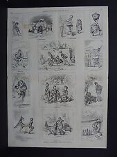 HARPER'S WEEKLY, Double Page, #47 March 1876 German Character Sketches
