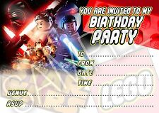 Party Invitations Lego Star Wars Birthday - 10 cards per pack