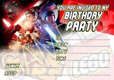 Party invitations lego star wars anniversaire - 10 cartes par pack