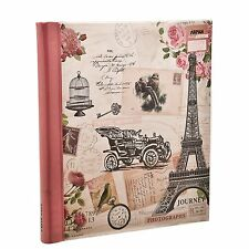 Arpan Pink Travel Large Self Adhesive Photo Album 20 Sheets 40 Sides - CL-FL40