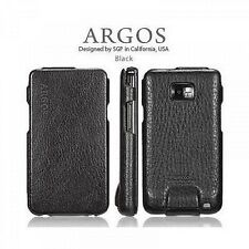SGP custodia vera pelle Leather Case Argos Series per Samsung Galaxy S2 Black