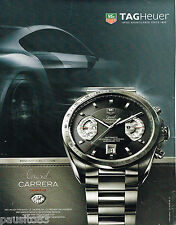 PUBLICITE ADVERTISING 065  2008  TAG HEUER   montre  GRAND CARRERA