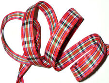 TOP QUALITY 15MM SCOTTISH TARTAN RIBBON, MULTICOLOURED, 5 METRES, ART 5226