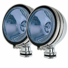 2 x Chrome 10cm BLUE  Angel Eye Halogen Car Custom Mod Spot Lights Foglights
