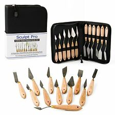 Palette Painting Knife Set- 12 Stainless Steel Art Palette Knives by Sculpt Pro