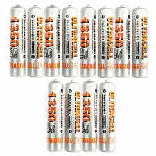 12 AAA 3A 1350mAh rechargeable battery NiMH 3A UltraCell Silver