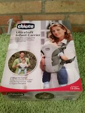 Chicco UltraSoft Infant Carrier Grey for Infants 7.5-25lbs  2 Way Baby Carrier