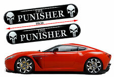 2 x THE PUNISHER 3D STICKERS DOME RESIN BADGE BUMPER WHEEL LOGO EMBLEM CAR AUTO