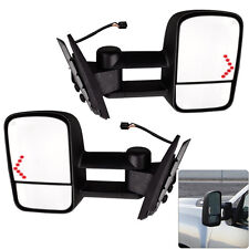 Pair Power LED Signal Towing Mirrors for 07-13 Chevy Silverado 1500/2500/2500HD