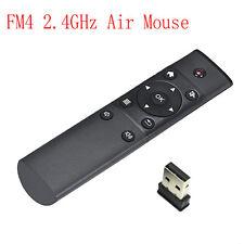 FM4 2.4GHz RF senza fili Air Mouse Tastiera Telecomando Per Android KODI TV