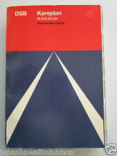 DENMARK Train Timetable DSB Rail Amtliches Kursbuch Indicateur officiel 1993-94