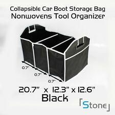 2xCar Heavy Duty Boot Organiser Shopping Tidy Collapsible Foldable Storage