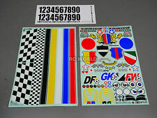 Tamiya 1/10 RC - DECAL STICKER SHEET - RC SOCCER Team Logos
