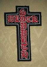 Black Sabbath Crucifix Cross Rock Music Band Iron-On Embroidered Patch/ Logo