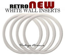 """VINTAGE COLLECTOR CAR AUTOMOBILE WHITE WALL TIRE 17"""" [ID-W]"""